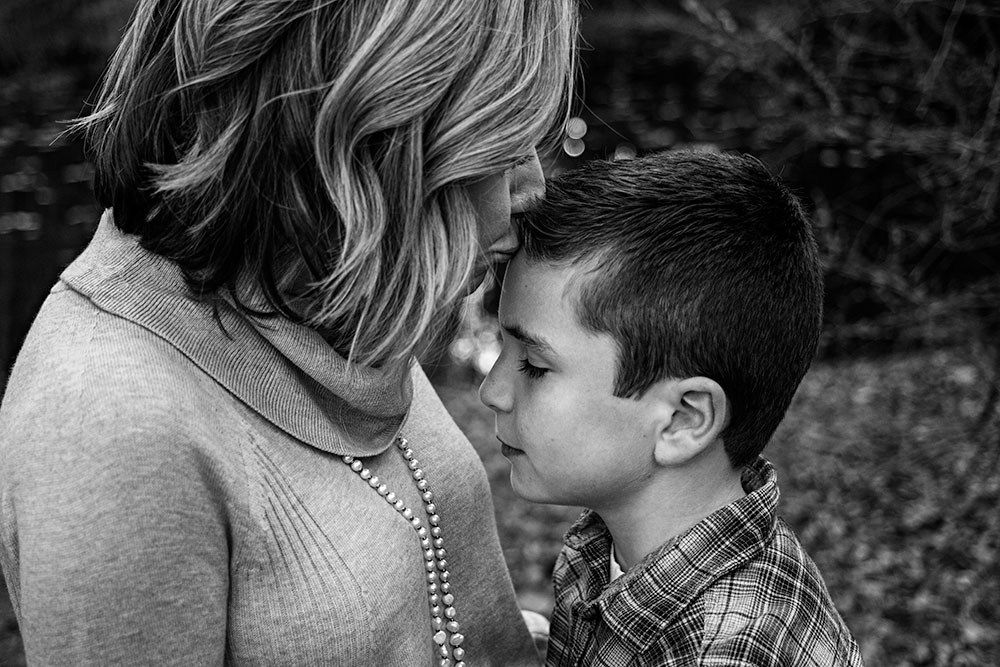 Mother and son from family photography session