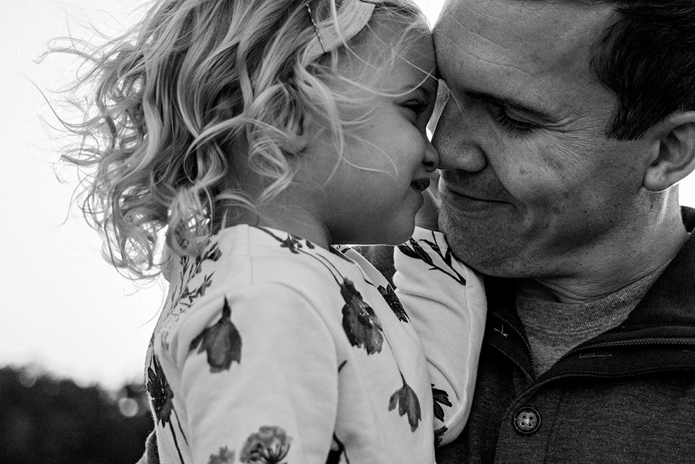 Nancy Elizabeth Photography, New Jersey Photographer, Dad And Daughter Eskimo kiss