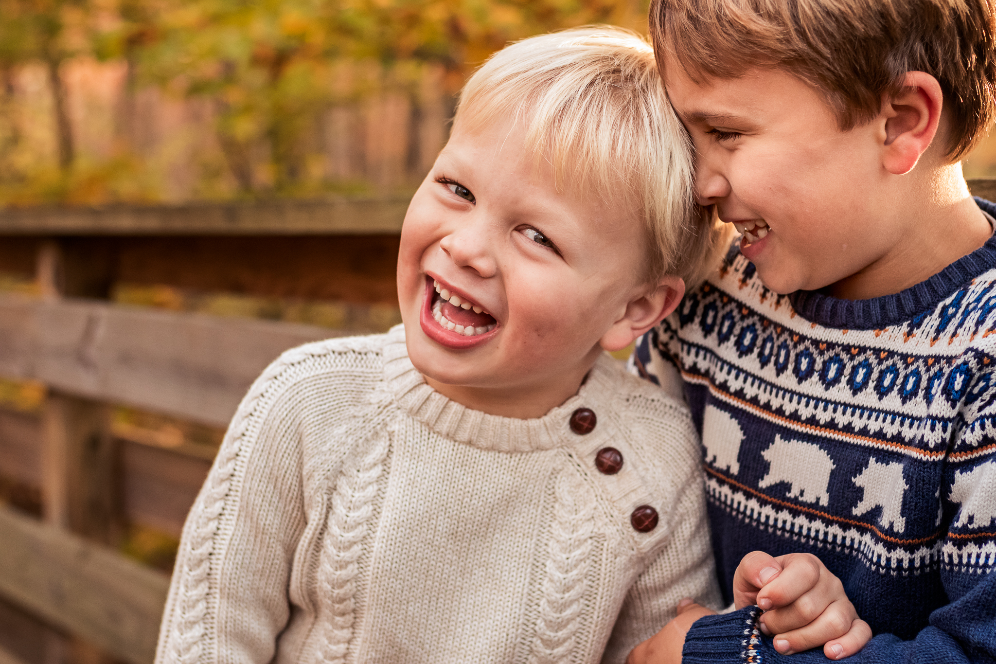 New Jersey Family Photographer, Nancy Elizabeth Photography, Brothers Laughing