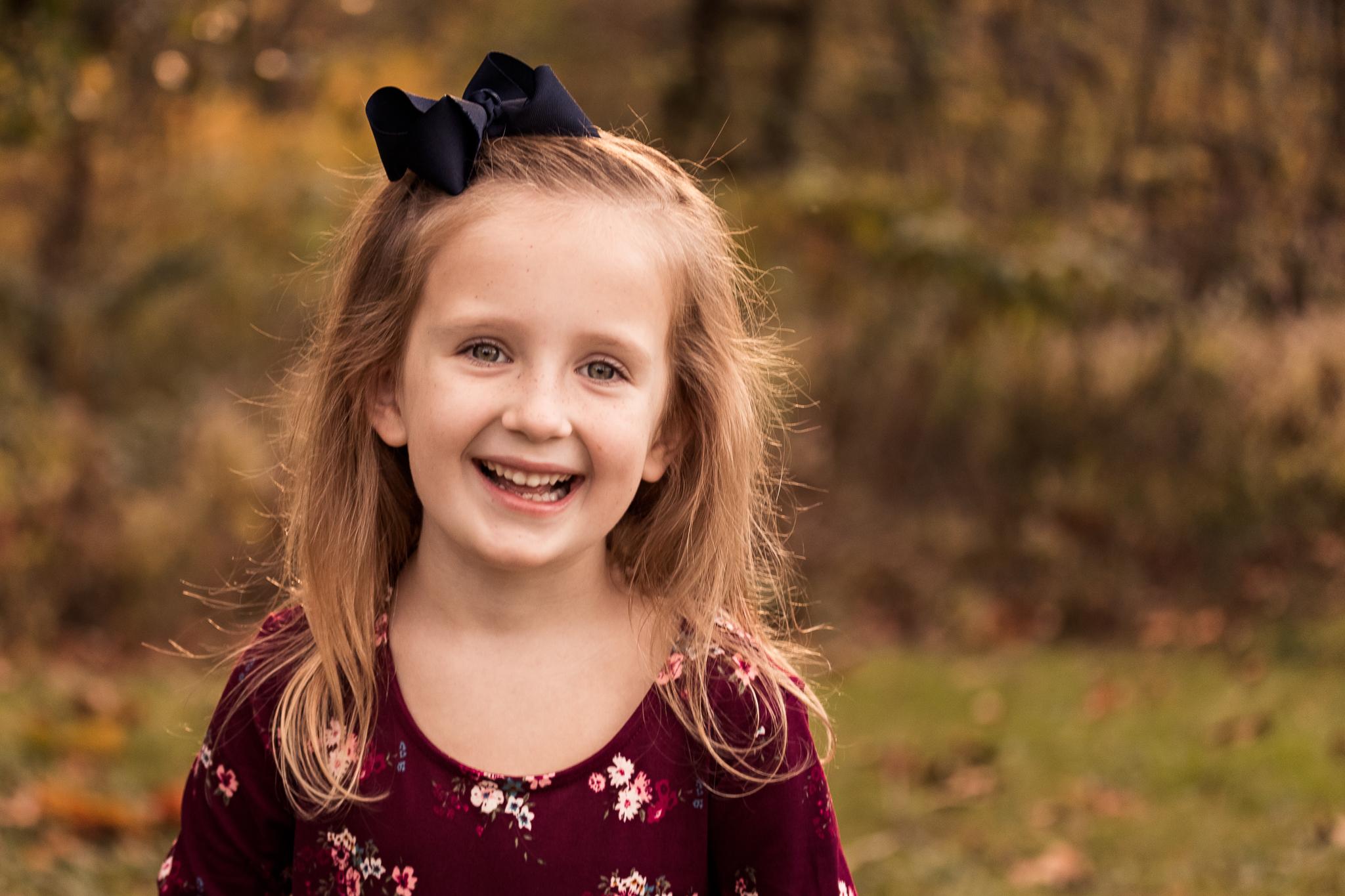 New Jersey Family Photographer, Nancy Elizabeth Photography, Girl Smiling Portrait