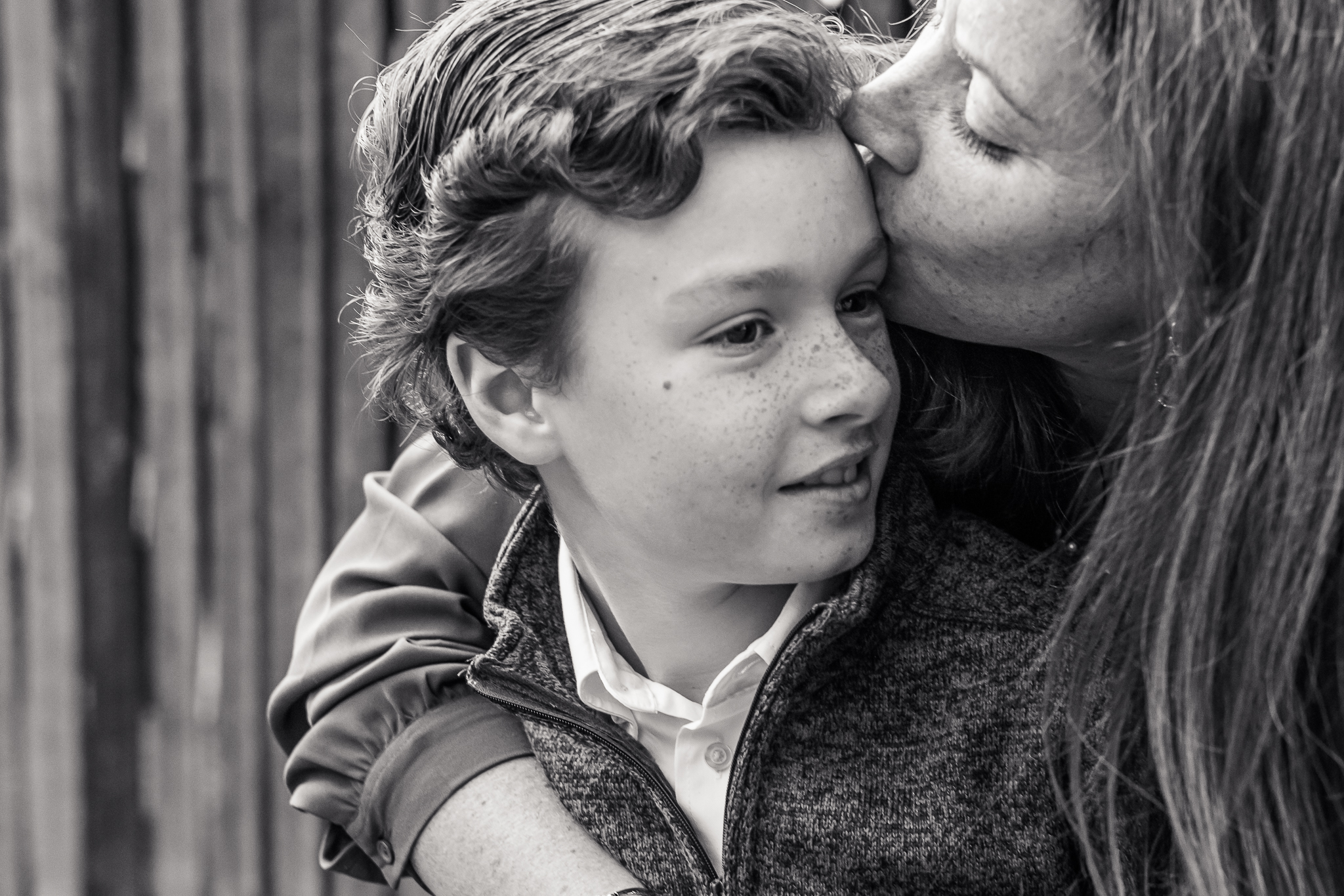 South Jersey Family Photographer Mom Kissing Son