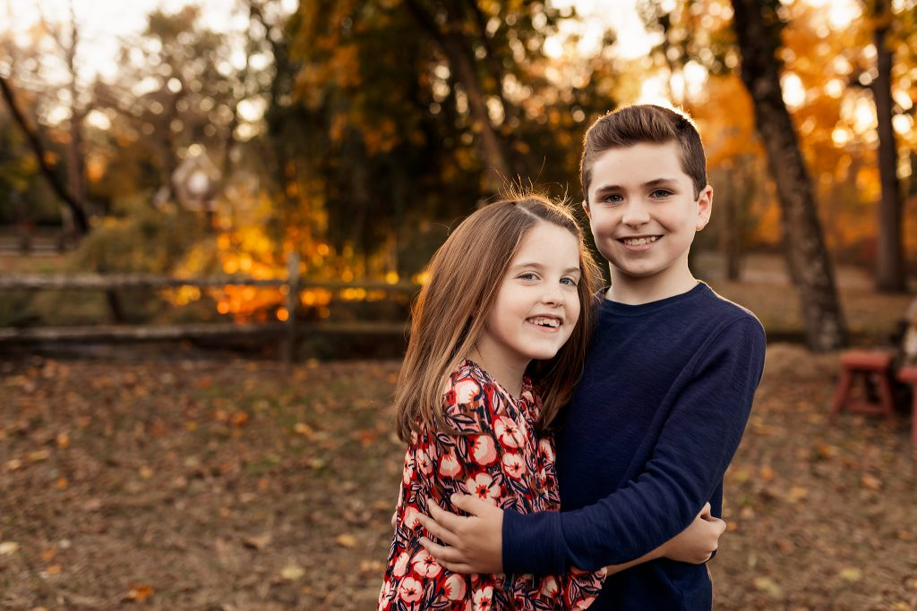 NancyElizabethPhotography, South Jersey Photographer, Brother and Sister Hugging