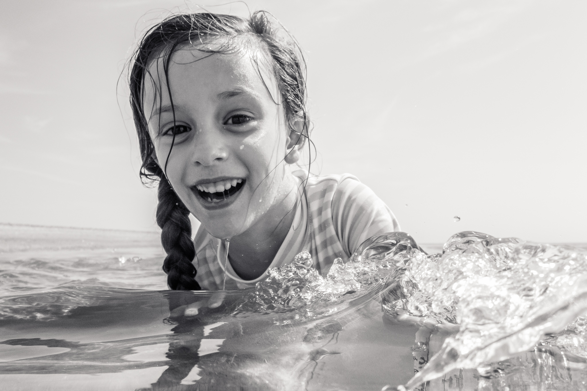 Nancy Elizabeth Photography | Jersey Shore Documentary Beach Photographer | Girl in Tidal Pool