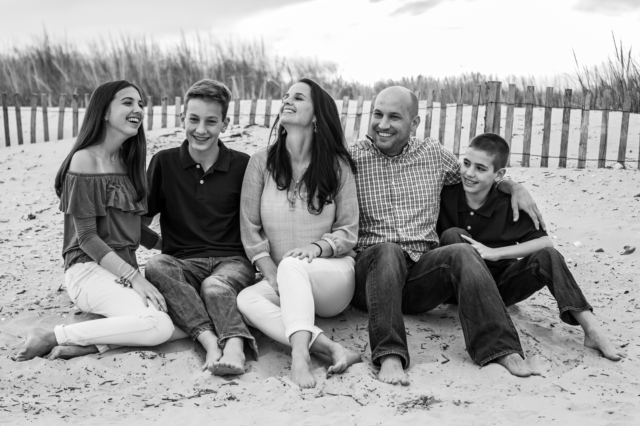 Nancy Elizabeth Photography, Family with Teens at Beach