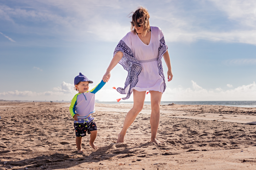 Nancy Elizabeth Photography Beach Session, South Jersey Photographer, Mom and Son on Beach