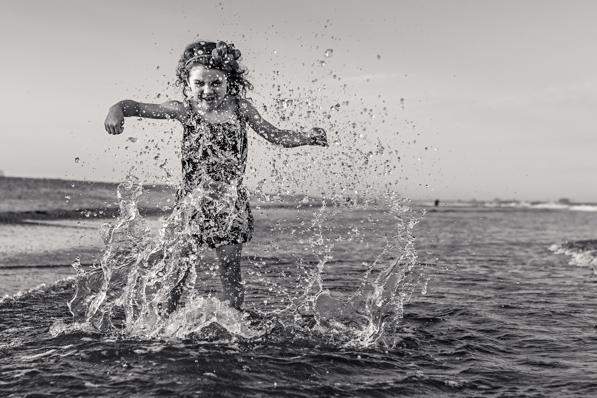 NancyElizabethPhotography, South Jersey Photographer, Kicking Ocean Water