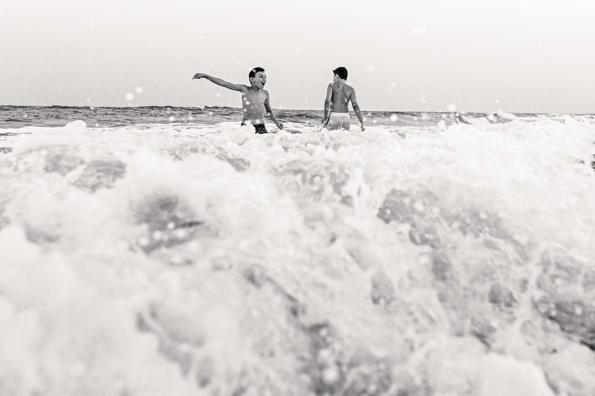 NancyElizabethPhotography, South Jersey Photographer, Sons Playing in Ocean