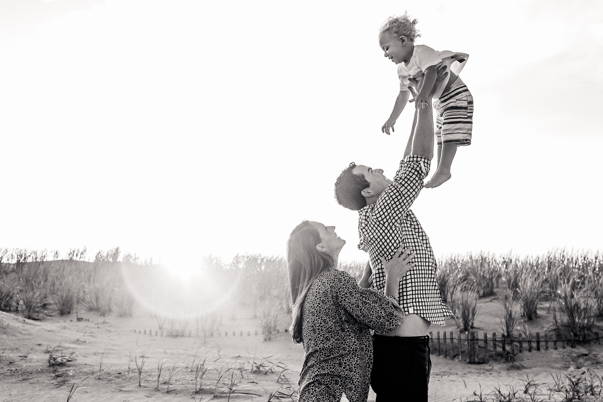 NancyElizabethPhotography, South Jersey Photographer, Family of 3 Throwing Son in Air
