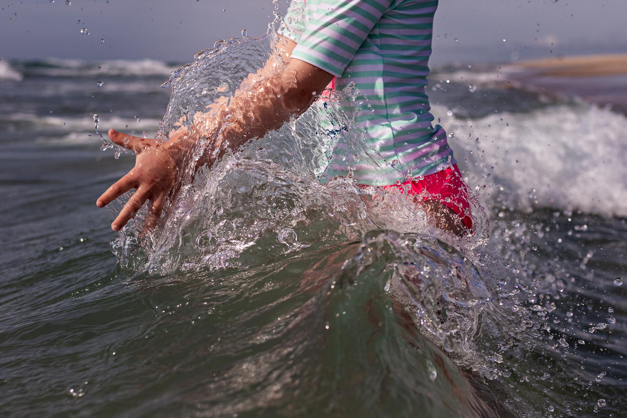 NancyElizabethPhotography, South Jersey Photographer, Hands Splashing in Ocean