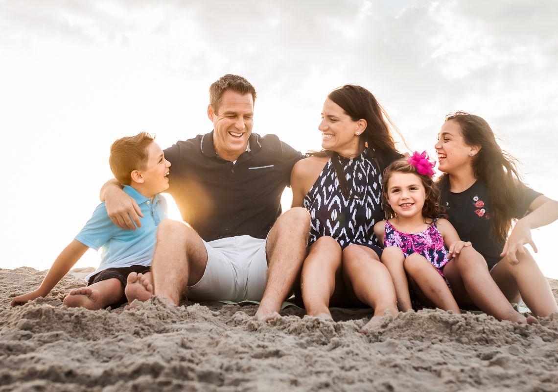 NancyElizabethPhotography, South Jersey Photographer, Family on Beach Laughing