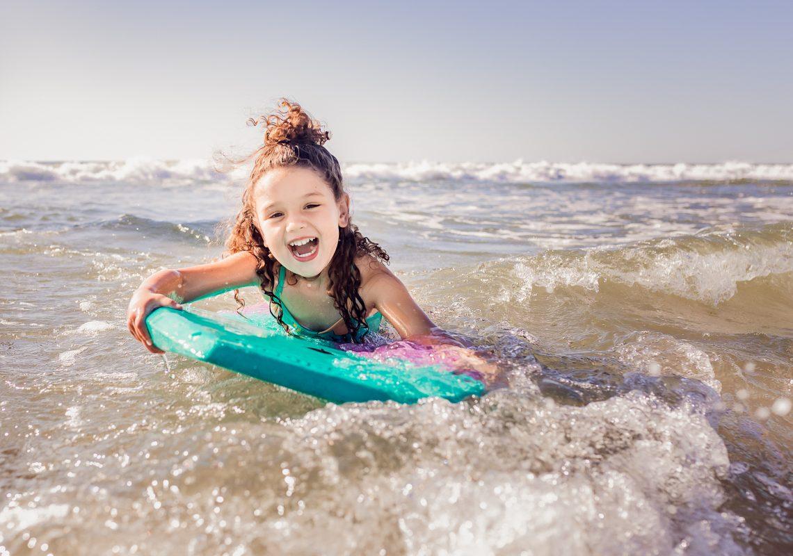 NancyElizabethPhotography, Stone Harbor New Jersey Photographer, Girl Boogie Boarding